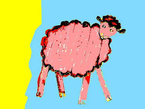 Bah Bah Aussie Sheep - Pink by Lexa Harpell