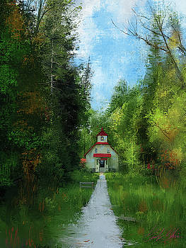 Bailey Harbor Lighthouse by Garth Glazier
