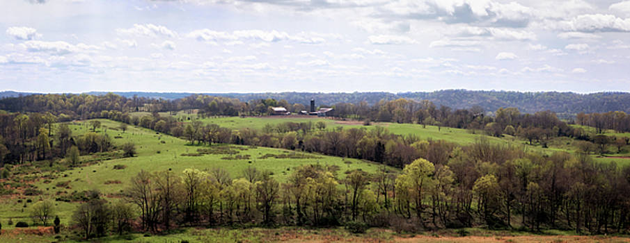 Baker Bluff Overlook Panorama  by Susan Rissi Tregoning