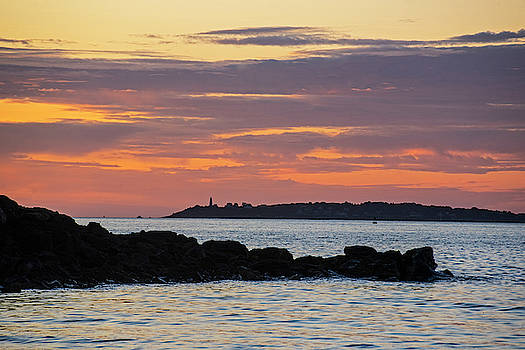 Toby McGuire - Baker Island Lighthouse From Rice Beach Beverly MA at Sunrise