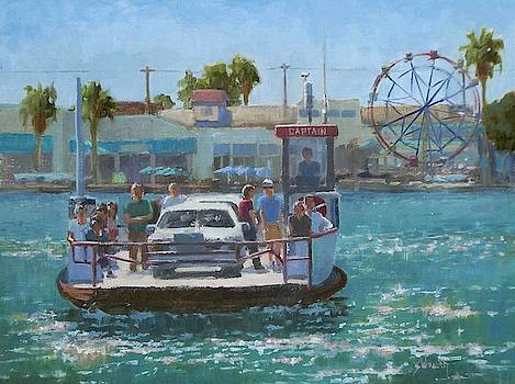 Balboa Island Ferry by Sharon Weaver
