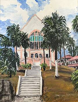 Balboa Union Church Panama Canal Zone by Sharon De Vore