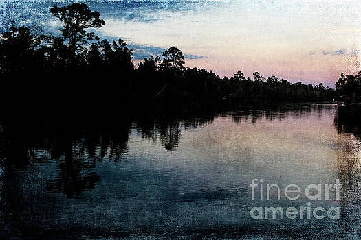 Blackwater Sunset with Texture by Pamela Moran