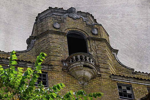 Balcony of Historic Baker Hotel Mineral Wells Texas  by Debra Martz