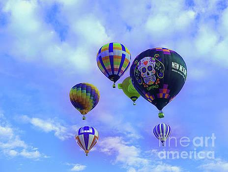 Balloon fiesta New Mexico by Jeff Swan