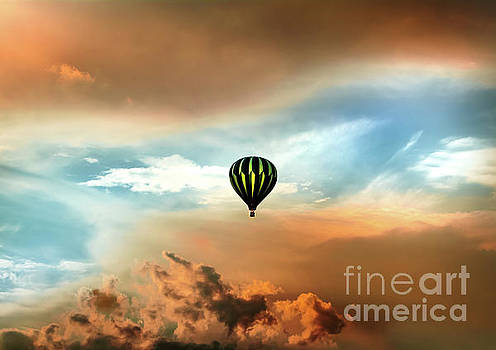 Balloon In Eye Of The Storm by Robert Frederick