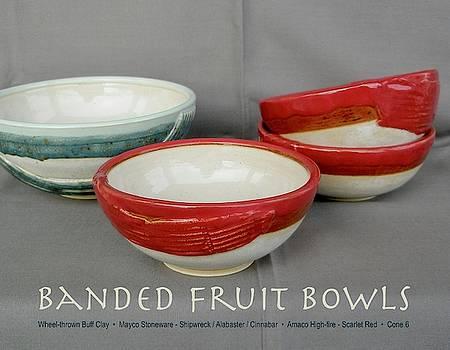 Banded Fruit Bowls by Teresa Tromp