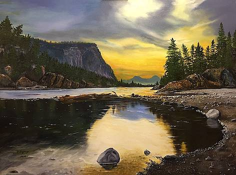 Bow River Sunrise  by Sharon Duguay