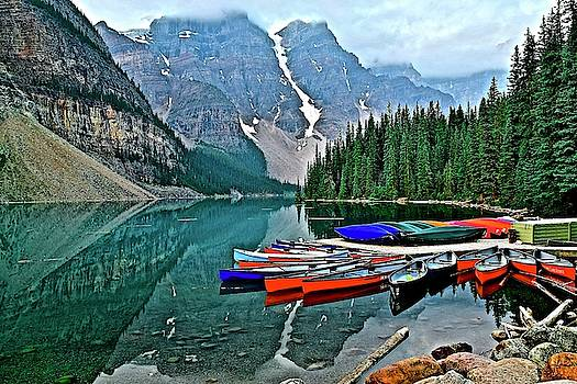 Frozen in Time Fine Art Photography - Banff on the Way to Jasper