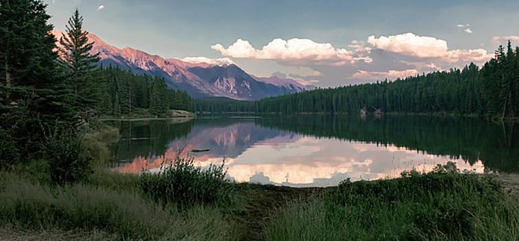 Banff Sunset Reflection by Norma Brandsberg