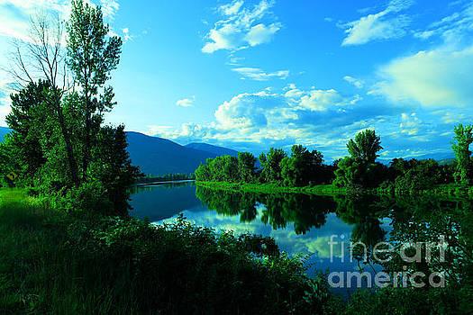 Banks of the Kootenay river Bonners Ferry Idaho by Jeff Swan