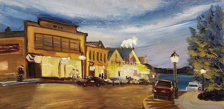 Bar Harbor Twilight by Susan E Hanna