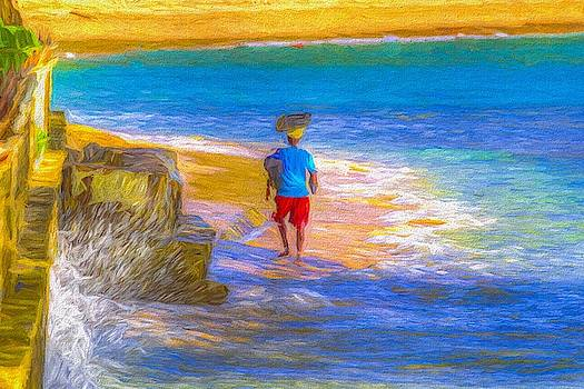 Barbadian Beach Art by David Pyatt