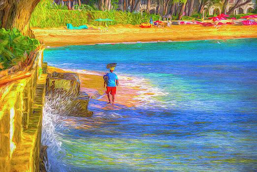 Barbadian Beach Vendor Art by David Pyatt