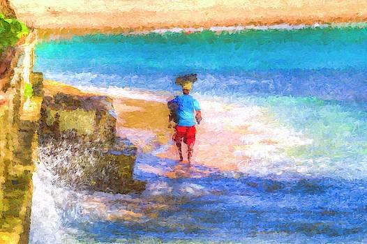 Barbadian Sea Art by David Pyatt