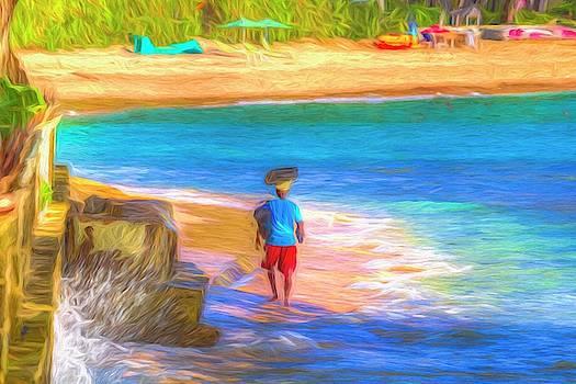 Barbados Beach Art by David Pyatt