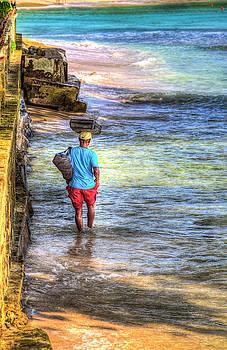 Barbados Beach Seller  by David Pyatt