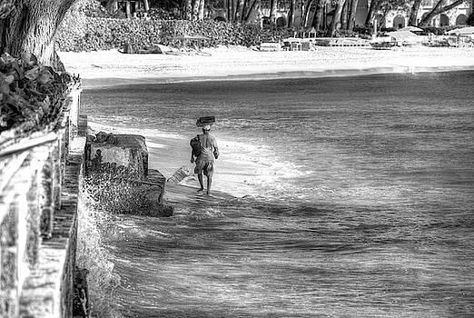 Barbados Beach Trader by David Pyatt