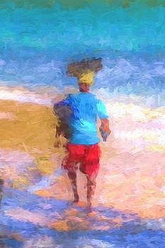 Barbados Beach Vendor Abstract by David Pyatt