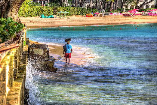 Barbados Beach Vendor by David Pyatt
