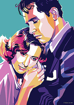 Barbara Stanwyck and William Holden by Stars on Art