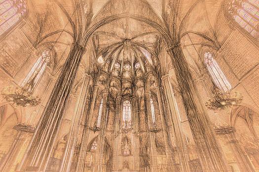 Barcelona Cathedral da Vinci  by David Pyatt