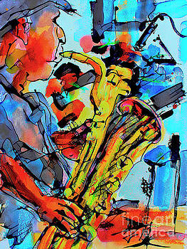 Ginette Callaway - Baritone Sax Player Modern Music Art