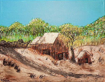 Barn On The Hill by Randy Sylvia