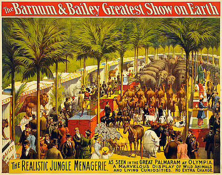 Barnum and Bailey Greatest Show - Vintage Advertising Poster by Siva Ganesh