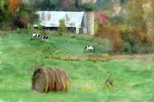 Barnyard Cows by Mary Timman