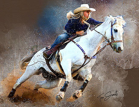 Barrel Racing II by Tom Schmidt