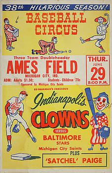 Baseball Circus - Indianapolis Clowns - Vintage Advertising Poster by Siva Ganesh