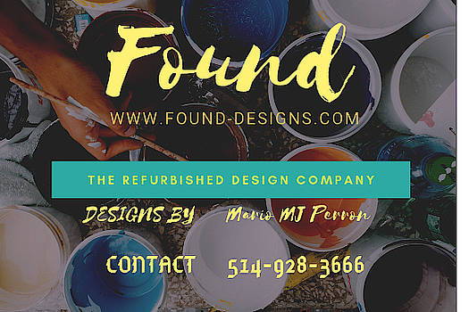Basic Label Design for Found by Mario MJ Perron