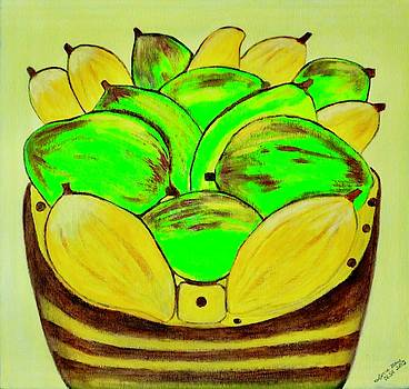 Basket Of Mangoes by Lorna Maza