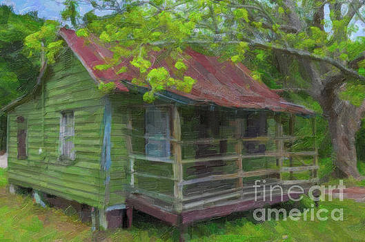 Basket Weaver Home - Red TIn Roof by Dale Powell