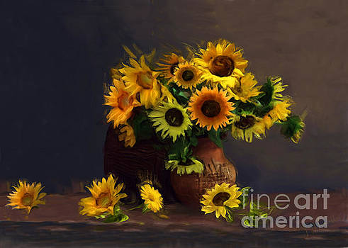 Baskets of Sunflowers by J Marielle