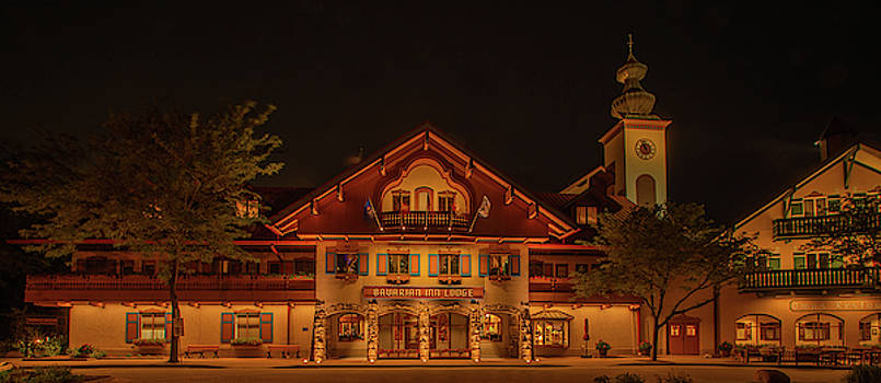 Bavarian Inn at Night by Diane Schuler