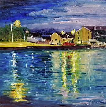 Bay Twilight Reflections by Susan E Hanna