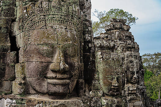 Bayon faces, Angkor Wat, Cambodia by Ian Robert Knight