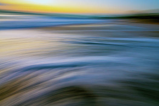 Beach Art Abstract Whitecaps by R Scott Duncan