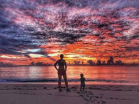 Beach Baby Sunrise 1 Delray Beach Florida by Lawrence S Richardson Jr