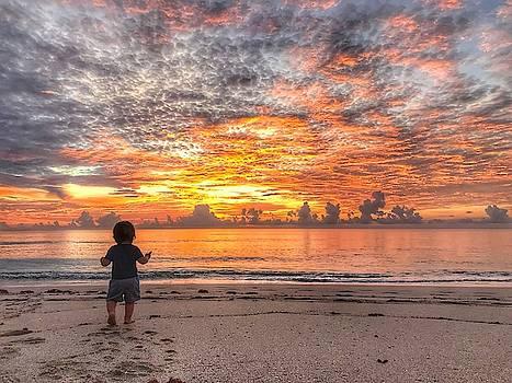 Beach Baby Sunrise 2 Delray Beach Florida by Lawrence S Richardson Jr