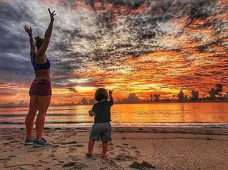 Beach Baby Sunrise 3 Delray Beach Florida by Lawrence S Richardson Jr