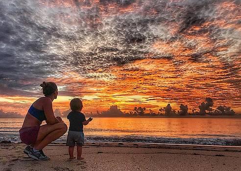 Beach Baby Sunrise 4 Delray Beach Florida by Lawrence S Richardson Jr