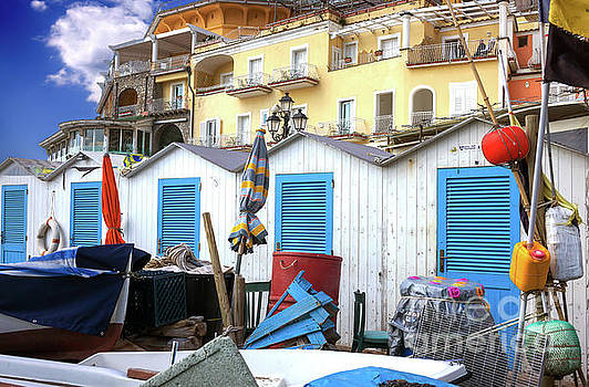 John Rizzuto - Beach Changing Rooms Positano Italy