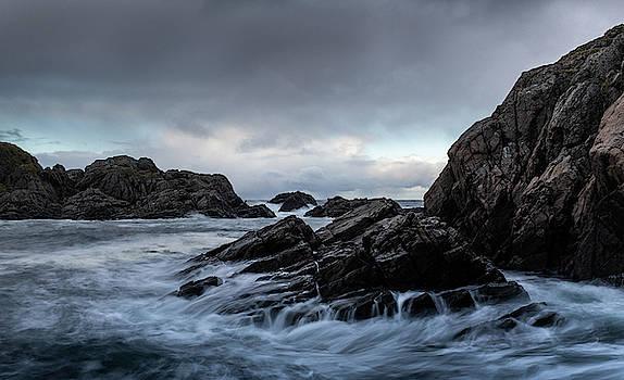 Beach, Evening Mood, Lofoten, Norway by Kai Mueller