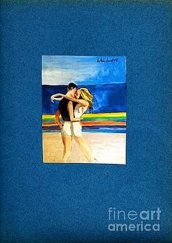 Beach Hug  by Harry WEISBURD