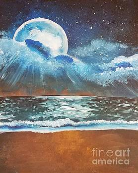 Beach Moon  by Jennah Lenae