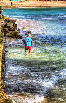 Beach Seller Barbados by David Pyatt