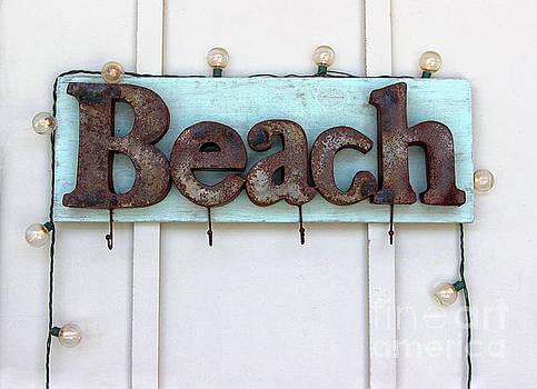 Beach Sign by Karen Adams